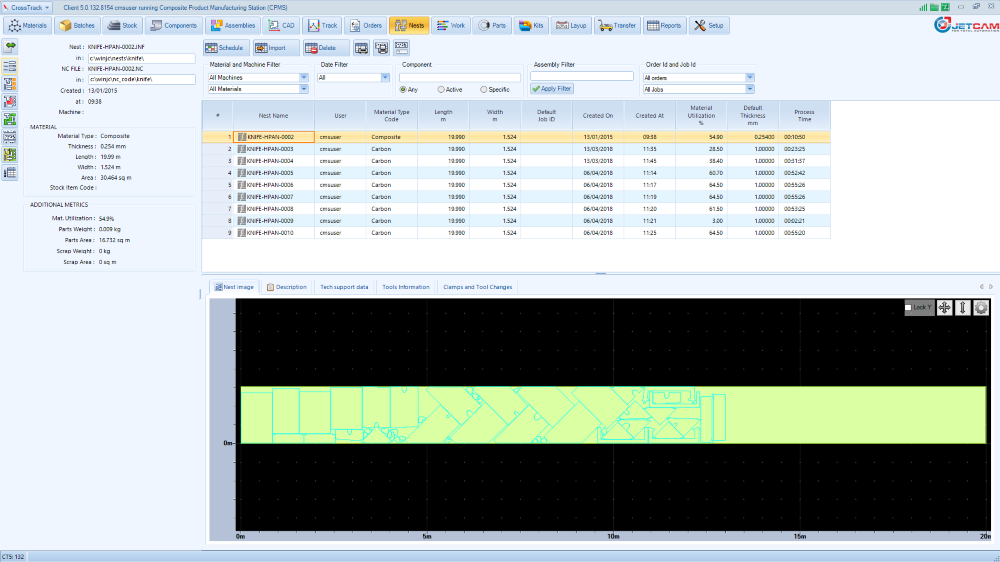 Composite Material Tracking Software