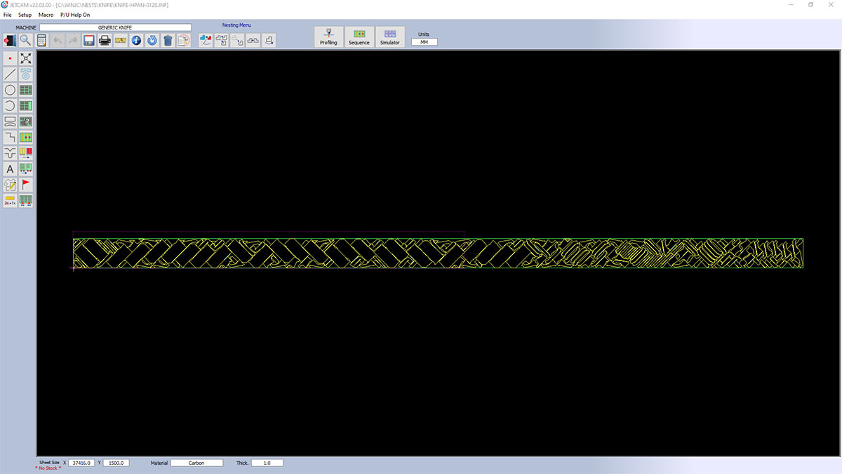 Cutting CADCAM nesting software - laser, waterjet, plasma