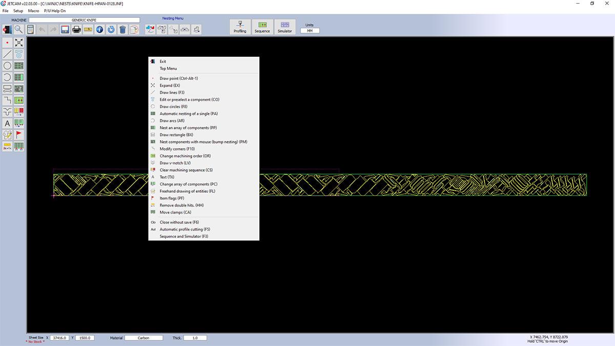 CADCAM nesting software for all composite knife CNC machines