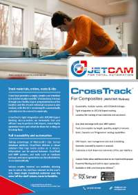 CrossTrack Composite and Sheet Metal manufacturing suite